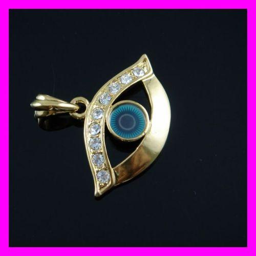 gold plated evil eye pendant