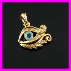18k gold plated evil eye pendant