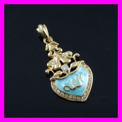 gold plated oil drop pendant