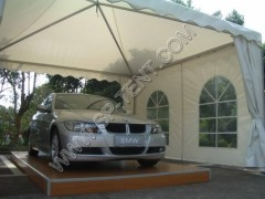 Garage 6x6m luxury carport garage with aluminum and pvc fabric in 6x6m products