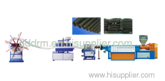 PE reinforcing pipe manufacturing machine for sales