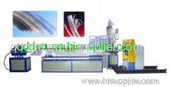 PE spiral steel wire hose extrusion line/soft pipe machine