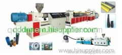 PE carbon screw pipe extrusion line/plsatic pipe making line