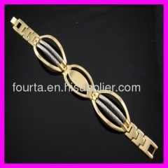 two colors 18k gold plated bracelet IGP