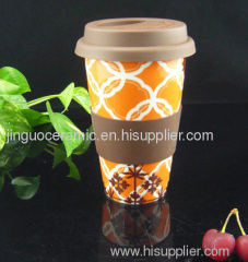 Ceramic double wall cup