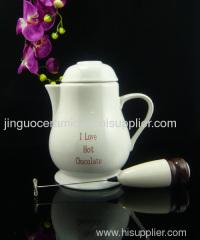 Ceramic hot chocolate pot