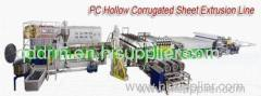 hollow corrugated sheet extrusion line/sheet making line