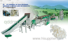 plastic film crushing & drying machine