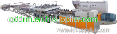 PVC skinning foaming sheet extrusion line