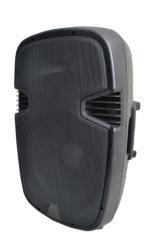 15 inch professional loud speaker with plastic enclosure