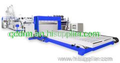 PP corrugated sheet extrusion line/ PE sheet making machine