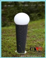 PE rattan aluminium frame garden solar lamp LEO lights