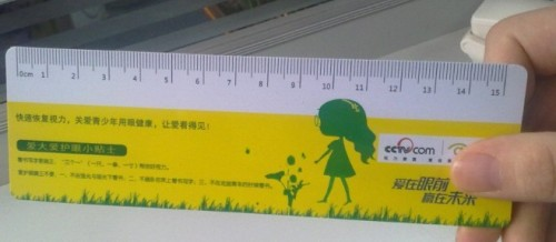 Popular Plastic Ruler, Cute PVC Ruler