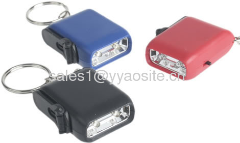 2LED mini hand-cranking dynamo flashlight D009 Mini-Crank-Flashlight