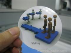 3D soft PVC label