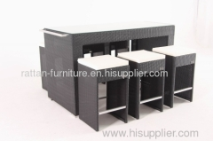 outdoor furniture wicker bar set