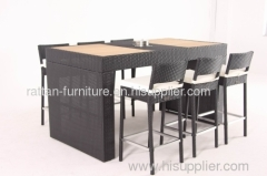 garden furniture PE wicker bar set
