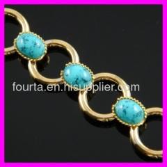 fallon 18K gold plated turquoise bracelet
