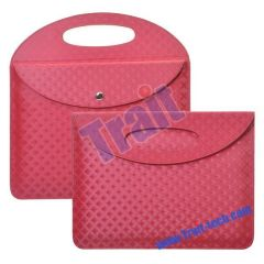 Glittery Patten Carry Bag Leather Case for iPad 2(Red)
