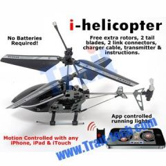NEW 3CH Gyro Metal RC i-Helicopter Motion Controlled by iPhone/iPad/iTouch(777-170)