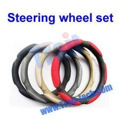 3D Prevent Slippery Breathable Sandwich Fabric Steering Wheel Set