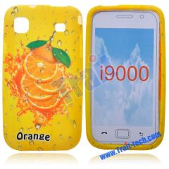 Oranges Pattern Silicone Soft Case for Samsung Galaxy S I9000