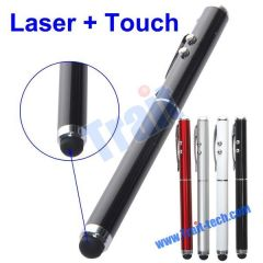Multifunction Laser Pen Stylus Touch Pen for iPhone/ iPod touch/ iPad (Black)