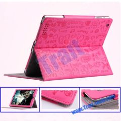New PU Leather Stand Case Magnetic Cover for iPad 2