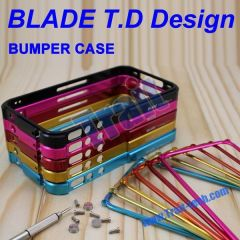 Aluminum Metal Blade Bumper Frame Case Cover for iPhone 4