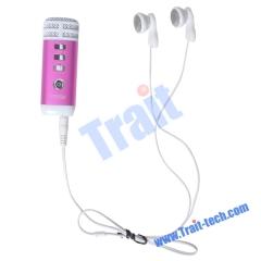 Pocket Mini Combination Karaoke Player(Hot Pink)