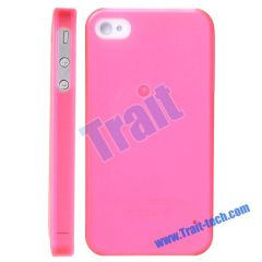 Luminous Plastic Skin Hard Case for iPhone 4(Pink)