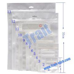 100Pcs/Pack Zip-lock Bag with Hanging Hole 25cmx35cmx0.1mm