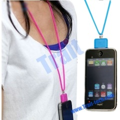 New Silicone Neck Lanyard Strap for iPhone/iPod(Black)