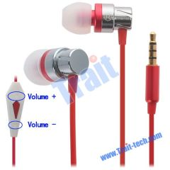 Earbud in-Ear Earphone Headphone with Remote and Mic for Apple iPhone/iPad