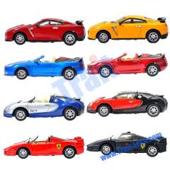 DIE-CAST 1:43 5CH Aluminium Alloy Rechargeble Mini Wireless RC Racing Car(8887)