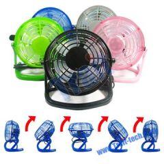 Brand New Design Plastic 360 degrees Rotation USB Mini Fan