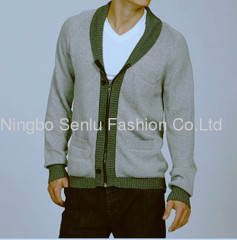 Men's Boiled Wool Cardigan