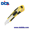 High quality Utility Knife with 8-Snap Blade Weigh Rubber Grip