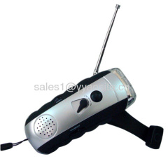 Hand Crank Radio Flashlight