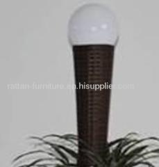 garden wicker solar lamp