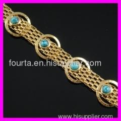 fashion 18K gold plated turquoise bracelet