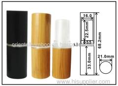 Bamboo lipstick tube: black lipstick case