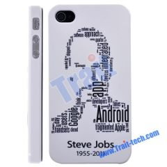 Fashion Steve Jobs Face Pattern Hard Case for iPhone 4