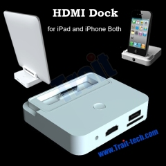 HDMI Dock Station for iPad2 iPhone 4 with Controller