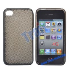New Clear Diamond TPU Case Cover for iPhone 4S(Grey)