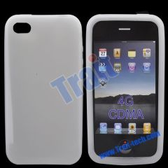 New ConciseSoft Silicone Case for iPhone 4S(White)
