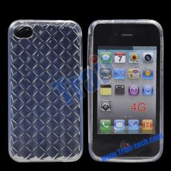 New Clear Diamond TPU Case Cover for iPhone 4S(Transparent)