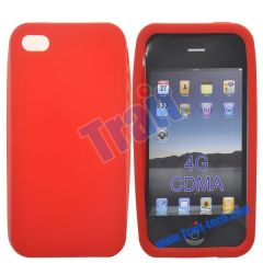New ConciseSoft Silicone Case for iPhone 4S(Red)