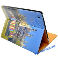 Small Car and Church Magnetic Leather Case for ipad 2