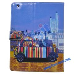 Small Car Magnetic Leather Case for iPad 2